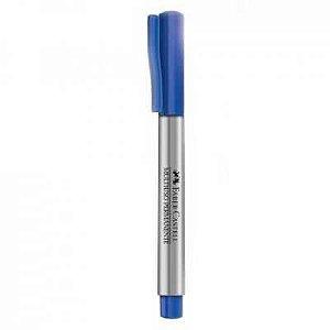 Marcador Faber Castell Multiuso Permanente Azul Escuro
