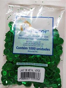 Lantejoula Lantecor Verde N8 1000 Unidades