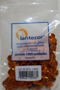Lantejoula Lantecor Cobre N8 1000 Unidades