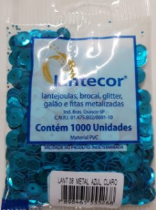 Lantejoula Lantecor Azul Claro N8 1000 Unidades