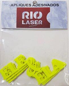 Aplique Adesivado Rio Laser Ele/Ela Amarelo Neon