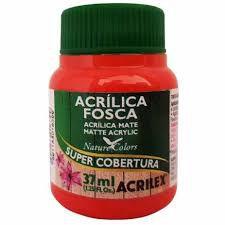 Tinta Acrilica Fosca Acrilex  Vermelho 37ML