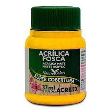 Tinta Acrílica Fosca Acrilex Amarelo Ouro 37Ml