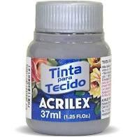 Tinta de Tecido Acrilex Cinza 37Ml