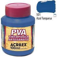 Tinta Pva Acrilex Fosca Azul Turquesa 100Ml
