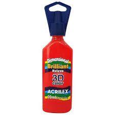 Dimensional Acrilex Vermelho Fogo 35Ml