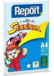 Papel Sulfite A4 Report Azul 75G 100 folhas