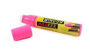 Marcador Acrilex Window Marker Rosa
