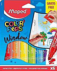 Hidrocor Maped Color Peps Window com 6 Unidades