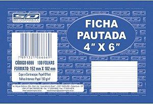 Ficha Pautada São Domingos 4X6 com 100 folhas