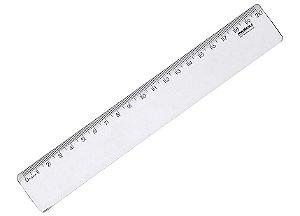Régua 20cm Waleu New Line Cristal