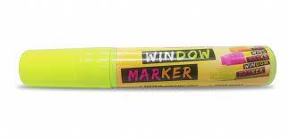 Marcador Acrilex Window Marker Amarelo