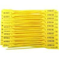 Lacre para Malote Amarelo 100 Unidades