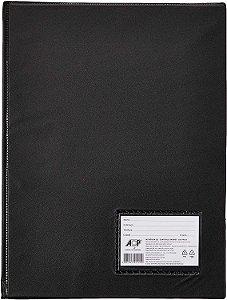 Pasta Catálogo Acp com 50 Plásticos Preto