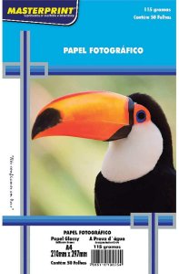 Glossy A4 115G Masterprint com 50 folhas