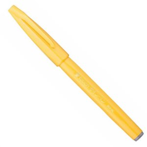 Caneta Pentel Brush Sign Pen Amarelo