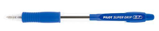 Caneta Pilot 0.7 Super Grip Azul Retrátil