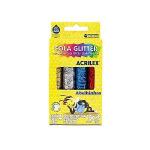 Cola com Glitter Acrilex 15G com 4 Unidades