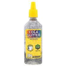 Cola com Glitter Acrilex Prata 35G