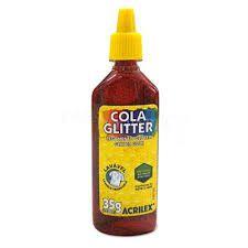 Cola com Glitter Acrilex Vermelho 35G