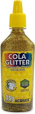 Cola com Glitter Acrilex Ouro 35G