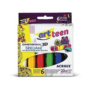 Dimensional Acrilex Art Teen com 6 Unidades