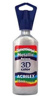 Dimensional Metallic Acrilex Prata 35Ml