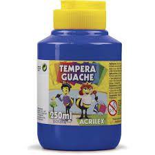 Guache 250Ml Acrilex Azul Turquesa