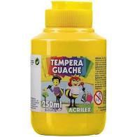 Guache 250Ml Acrilex Amarelo Ouro 505