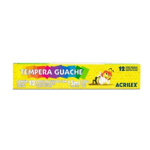 Guache Acrilex com 12 Unidades 15ML