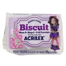 Massa de Biscuit Acrilex Lilás 90G