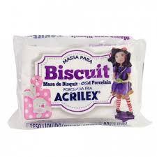 Massa de Biscuit Acrilex Branco 90G