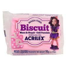 Massa de Biscuit Acrilex Rosa 90G