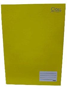 Caderno Foroni 1X1 Class Amarelo Brochura 96 folhas