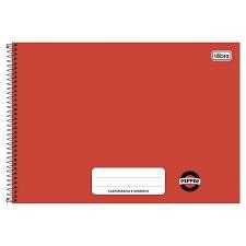 Caderno de Desenho Tilibra Pepper Vermelho Espiral 80 folhas