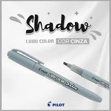 Marca Texto Pilot Lumi Color Cinza Shadow