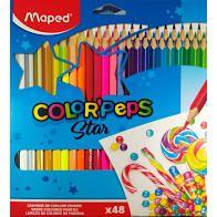 Lápis de Cor Maped Color Peps com 48 Unidades