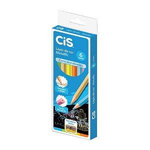 Lápis de Cor Cis Metallic com 6 Unidades