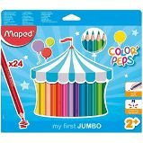 Lápis de Cor Maped Color Peps Jumbo com 24 Unidades