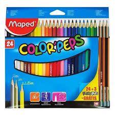 Lápis de Cor Maped Color Peps com 24 Unidades + 3 Lápis