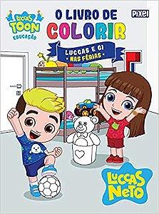 O Livro de Colorir Luccas e Gi nas Férias - Curitiba