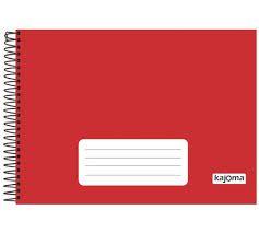Caderno Meia Pauta Kajoma Vermelho Espiral 96 folhas