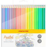 Lápis de Cor Compactor Art Color Pastel com 24 Unidades