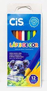 Lápis de Cor Cis Plastic com 12 Unidades