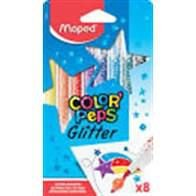 Hidrocor Maped Color Peps Glitter com 8 Unidades