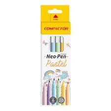 Hidrocor Compactor Neo Pen Pastel 6 Unidades
