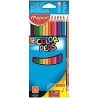 Lápis de Cor Maped Color Peps com 12 Unidades + Lápis + Apon