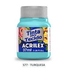 Tinta de Tecido Acrilex Turquesa 37Ml