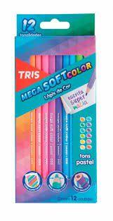 Lápis de Cor Tris Tons Pastel 12 Unidades