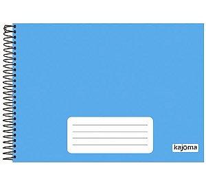 Caderno Meia Pauta Kajoma Azul Espiral 96 folhas